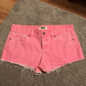 Victoria's Secret PINK hot pink jean shorts 6
